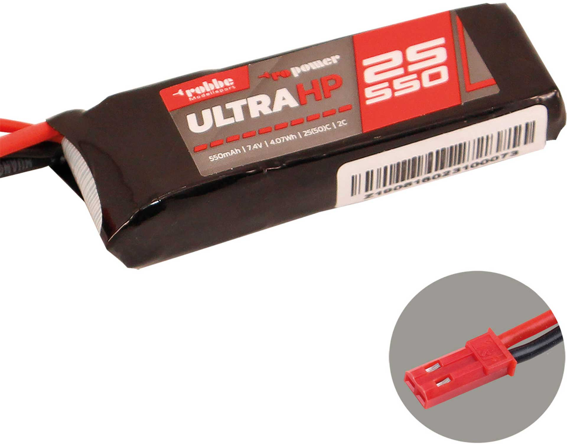 Robbe Modellsport RO-POWER ULTRA HP 550MAH 7,4 VOLT 2S 25(50)C LIPO AKKU