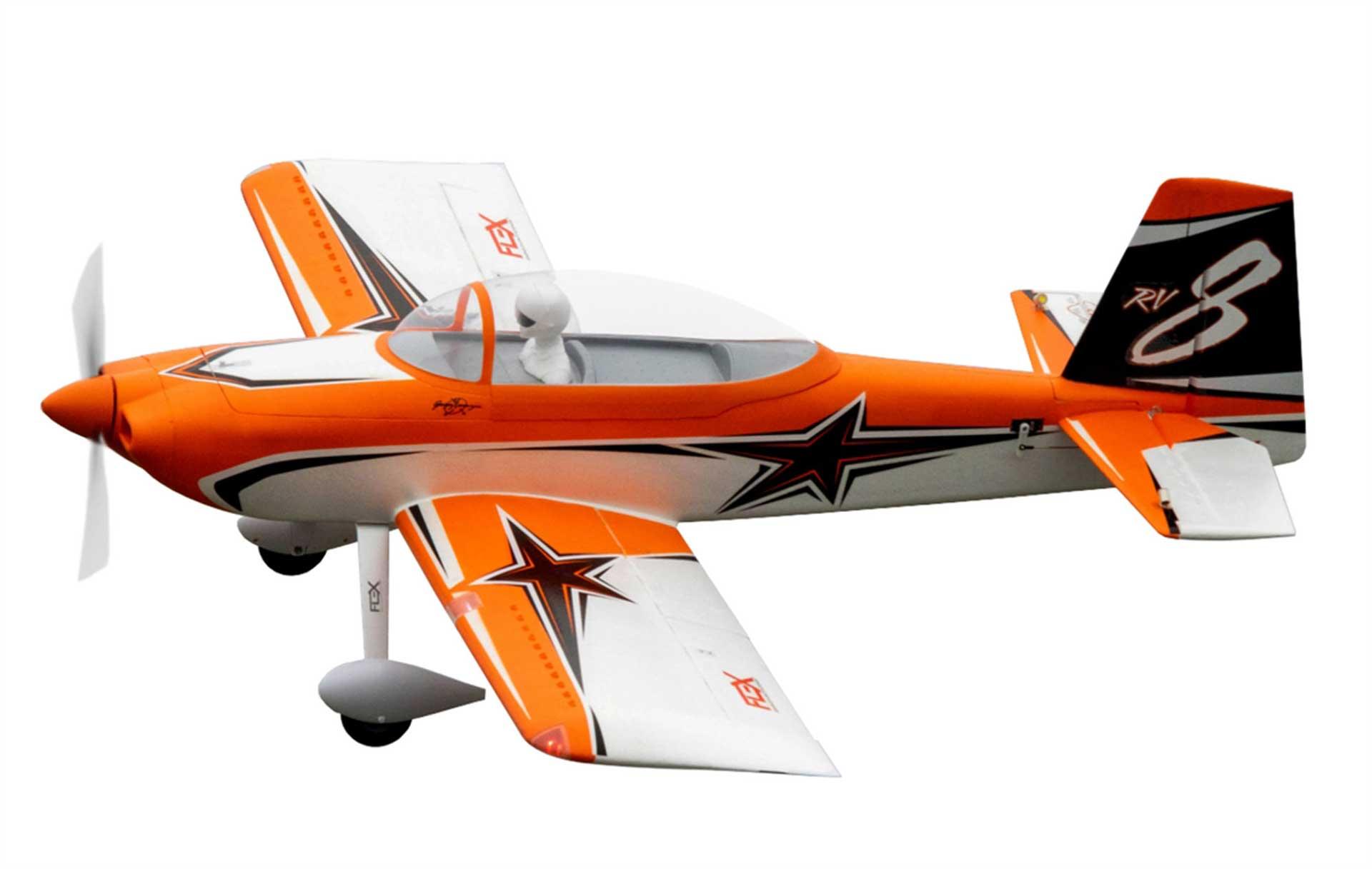 PREMIER AIRCRAFT RV-8 SUPER PNP NIGHT ORANGE MIT AURA 8 UND NACHTFLUGBELEUCHTUNG