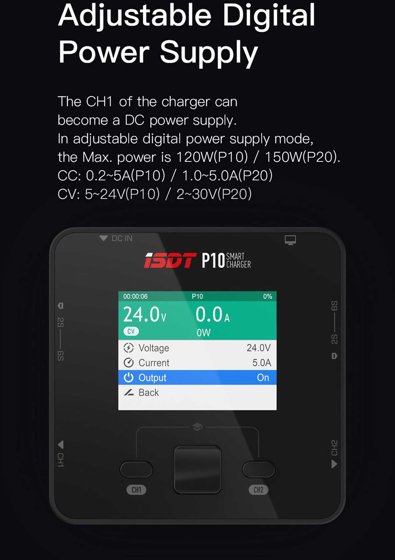 ISDT P20 Dual Smart Charger 1-8S 500W (x2) 20A (2x) 800W/35A parallel Ladegerät