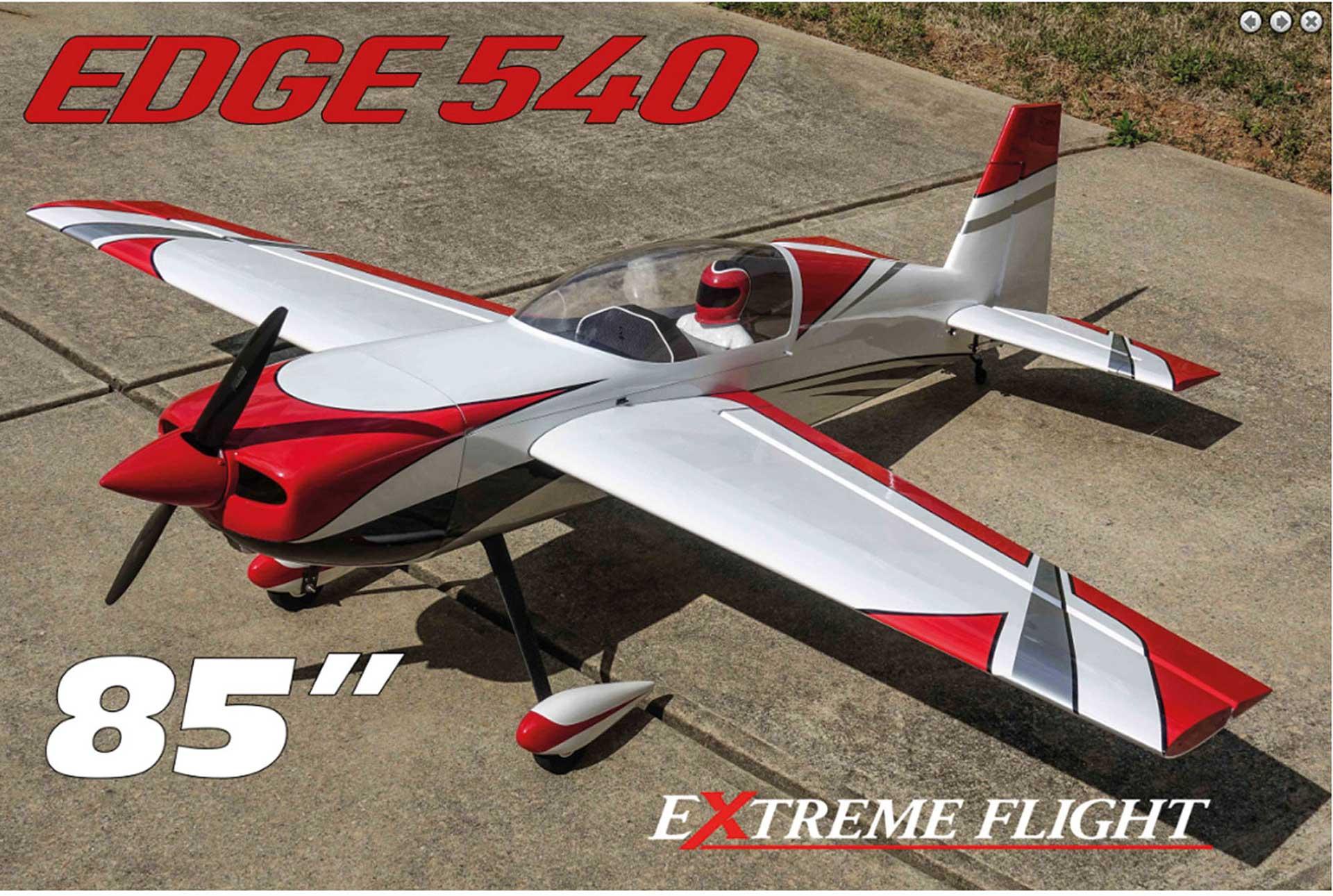 "EXTREMEFLIGHT-RC EDGE 540 85"" ROT/WEISS ARF"