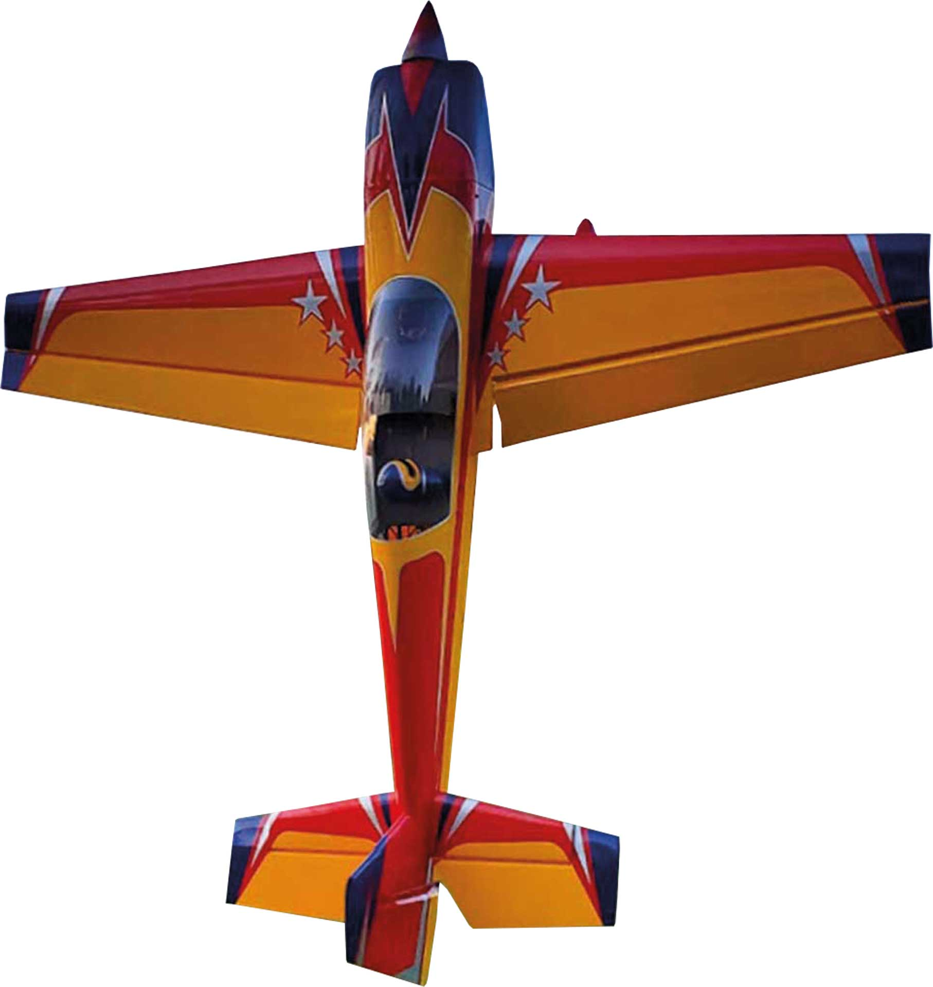 """EXTREMEFLIGHT-RC EXTRA 300 104"""" RED/YELLOW/BLUE"""