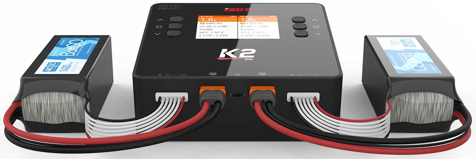 ISDT K2 Dual Charger 200 (500)W x2 AC/DC 1-6S Ladegerät