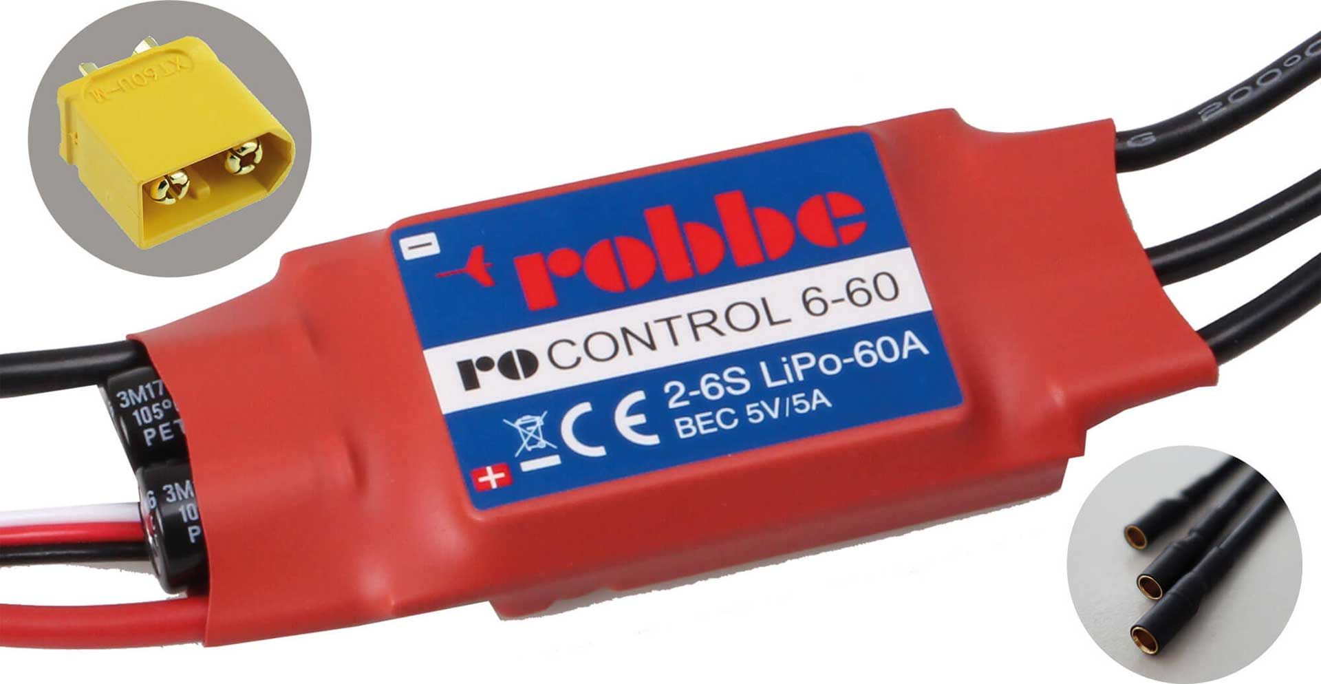 ROBBE RO-CONTROL 6-60 2-6S -60(80)A BL CONTROLLER 5V/5A SWITCH-BEC
