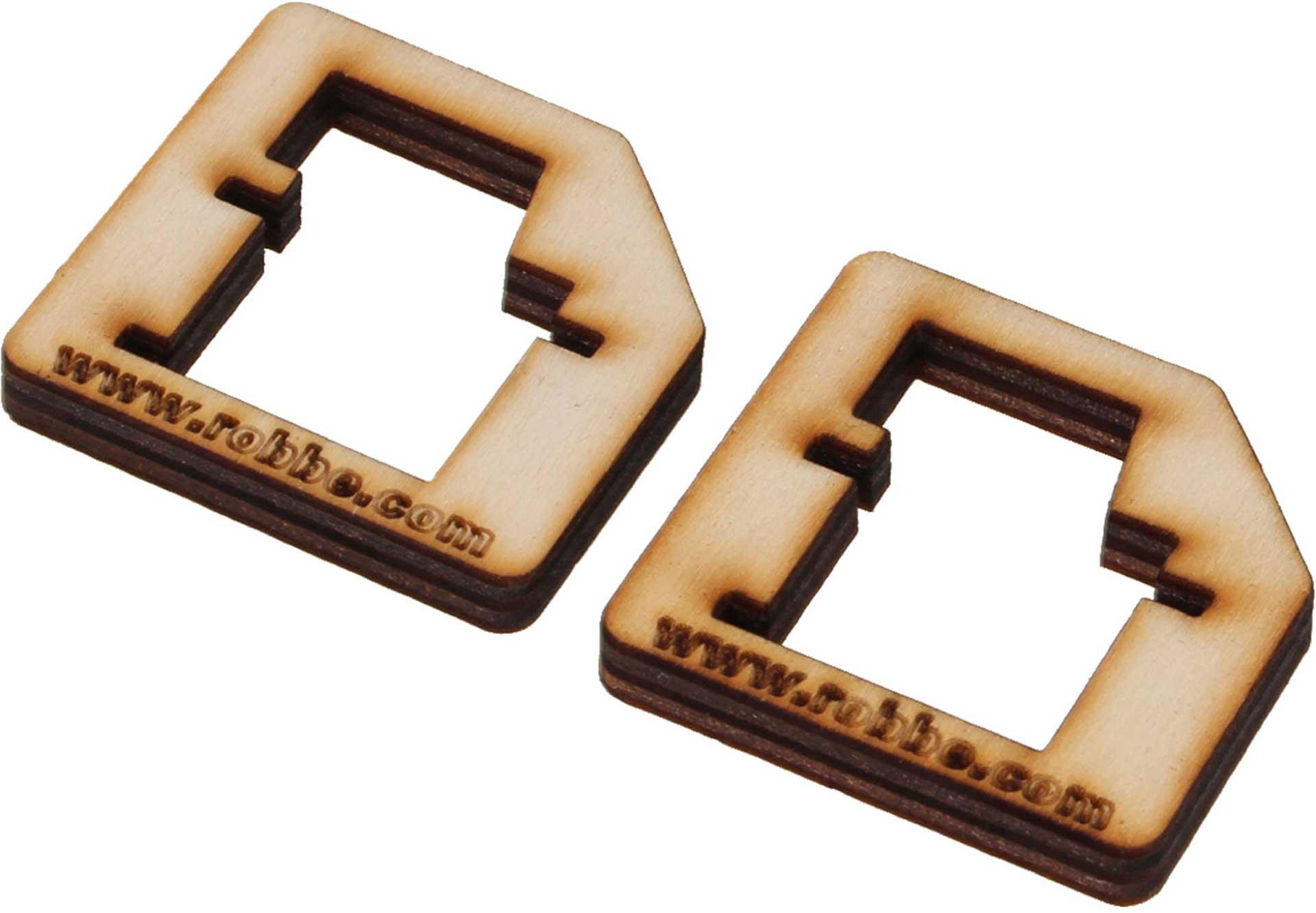 ROBBE CNC SERVORAHMEN FS 133 BB MG (1 PAAR)