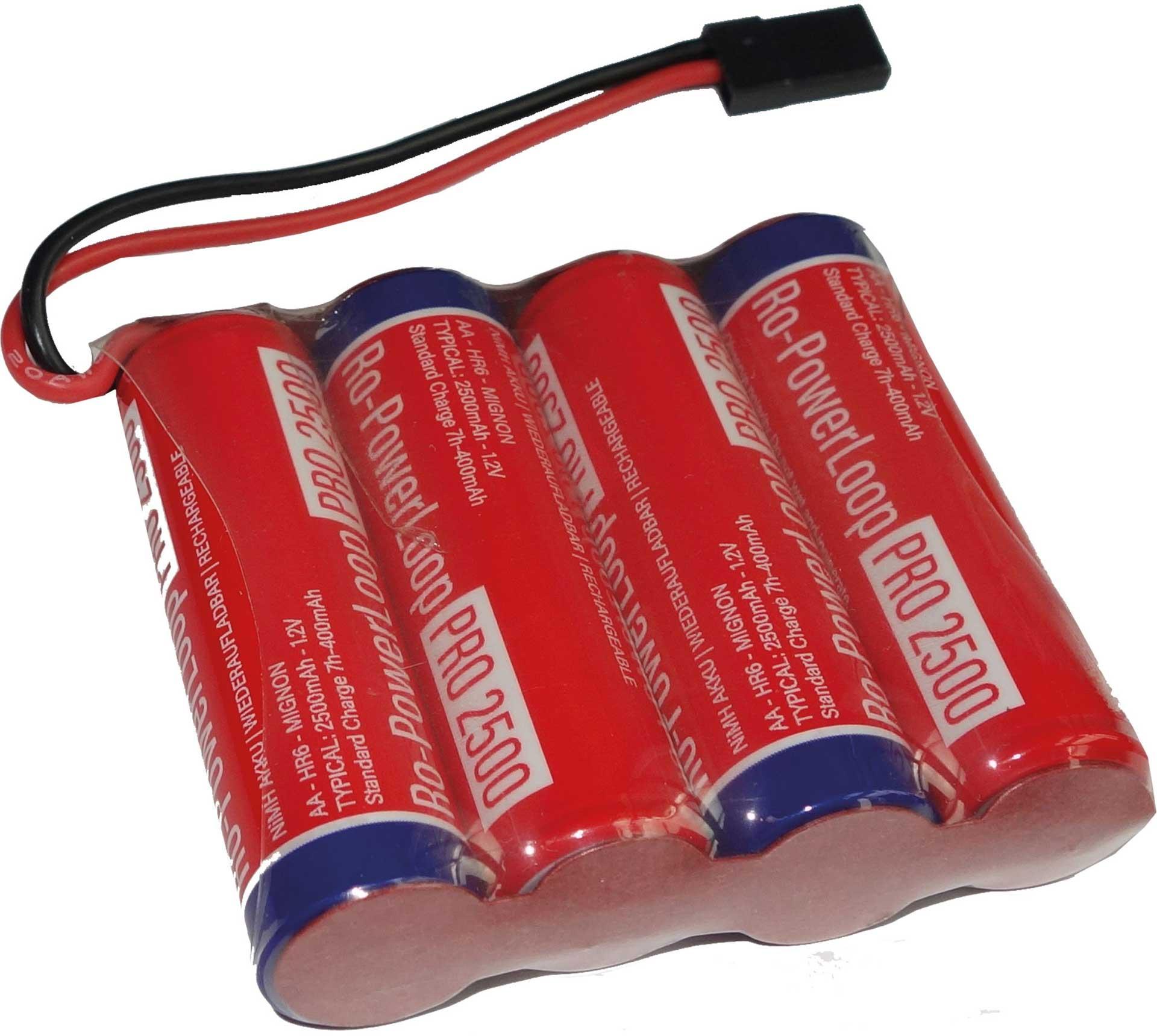 ROBBE RO-POWER LOOP MIGNON AA 2500 MAH 4.8 V RECEIVER BATTERY JR CABLE, ROW