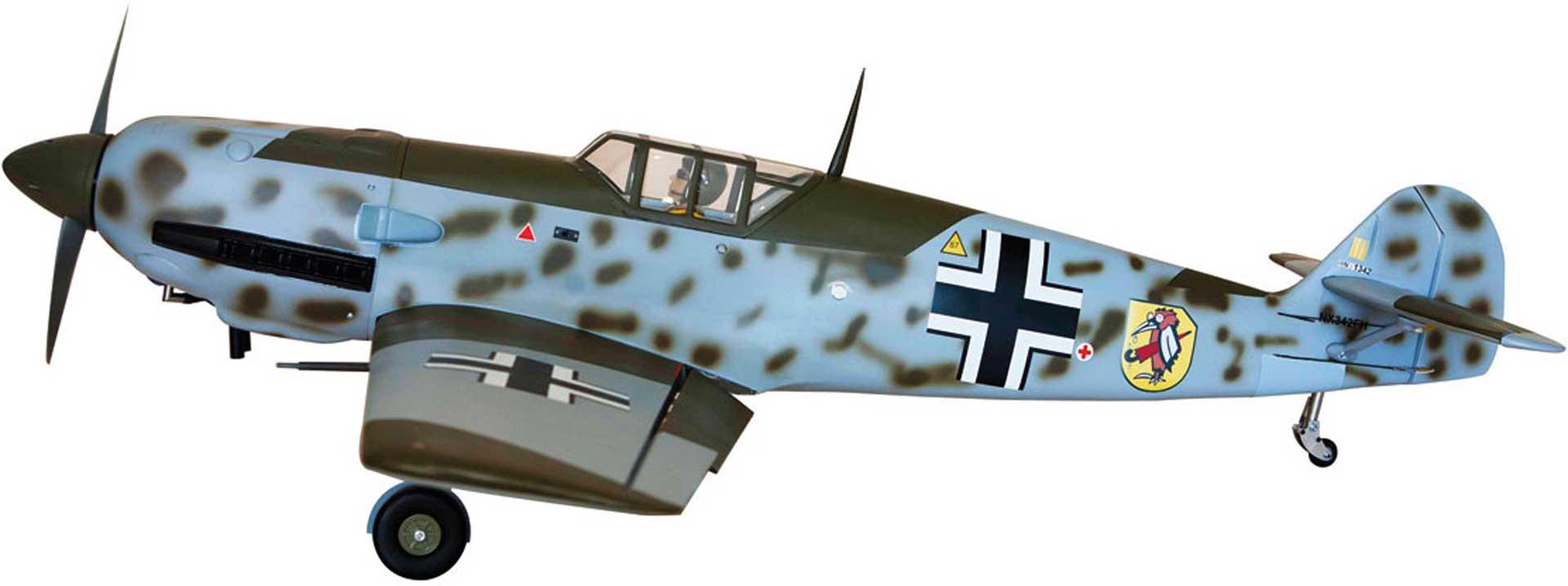 SG-MODELS MESSERSCHMITT BF-109 (ME-109) ARF WARBIRD MIT MECHANISCHEM EINZIEHFAHRWERK