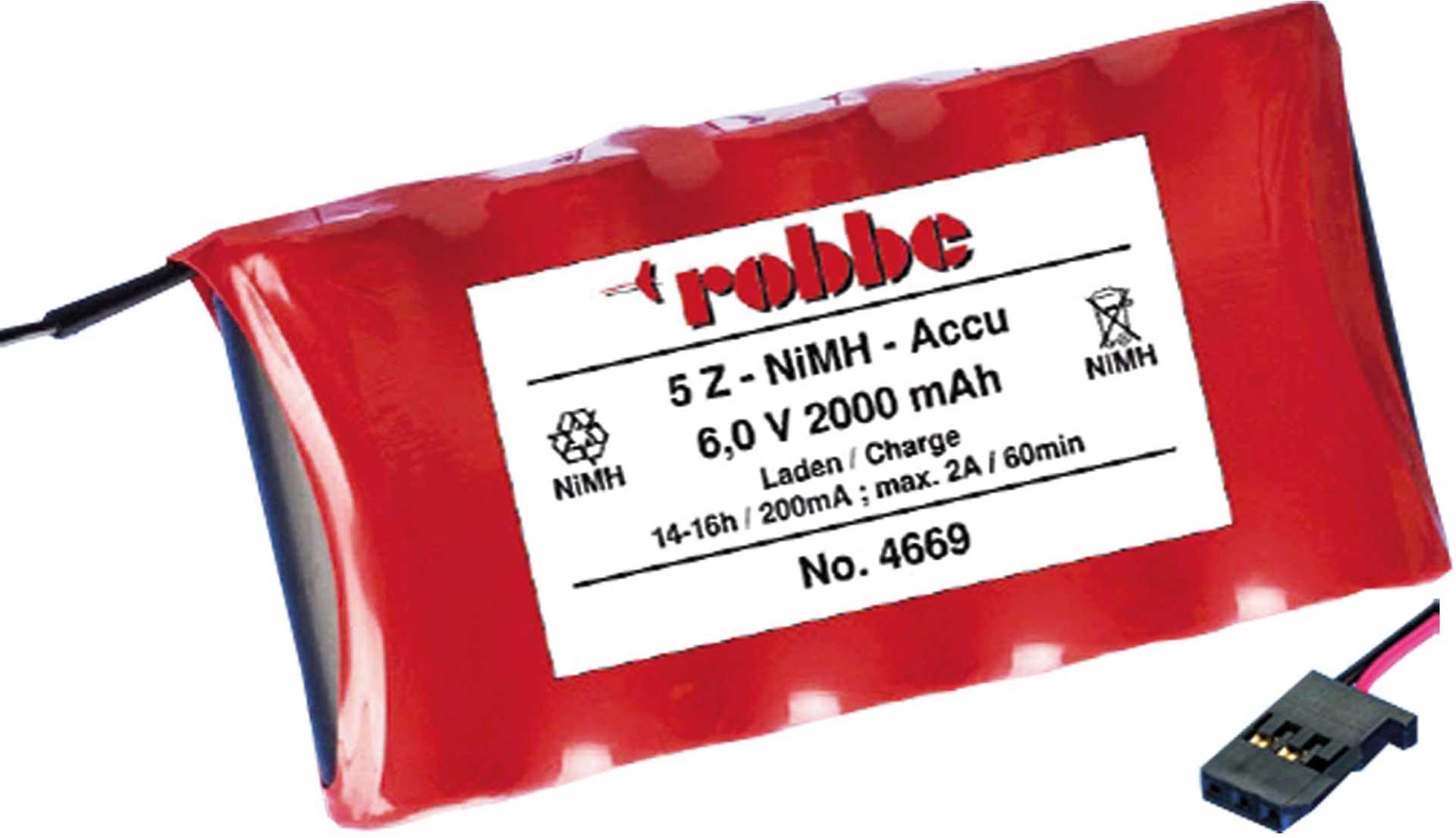 ROBBE SENDERAKKU 2000MAH/6V NIMH 4/5A T6J