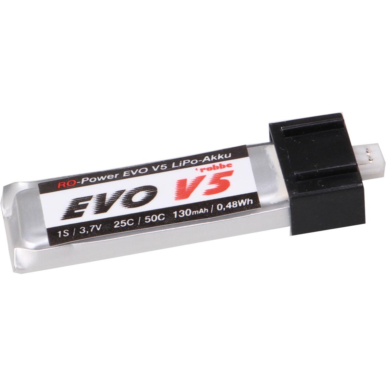ROBBE RO-POWER EVO V5 25(50)C 3,7 VOLT 1S 130MAH MIT ULTRA MICRO STECKER (UMX/JST 1.25) LIPO AKKU
