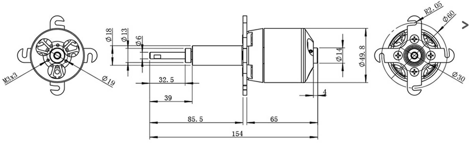 Robbe Modellsport RO-POWER TORQUE LS 5030/14 Brushless Motor