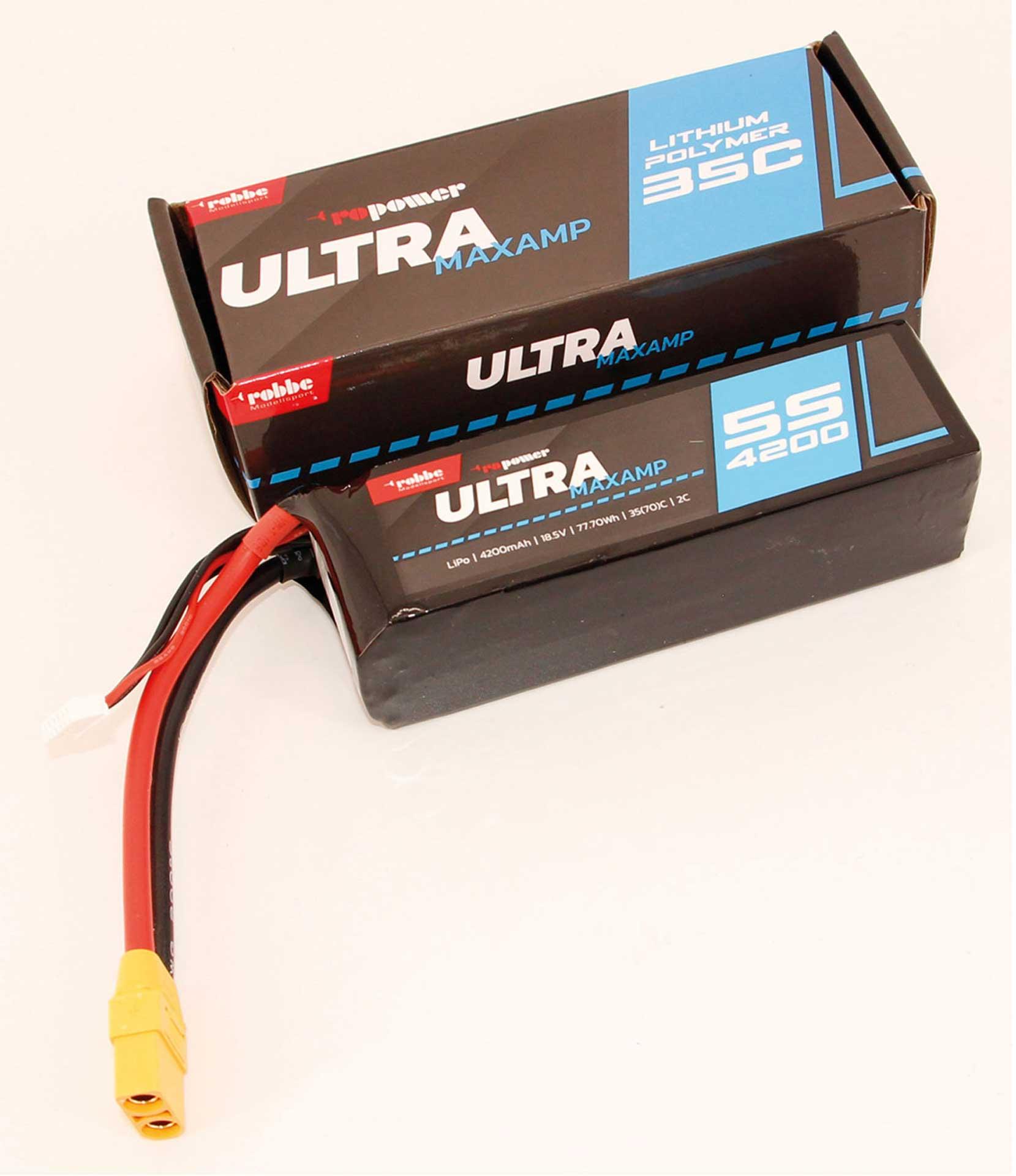 ROBBE RO-POWER ULTRA MAXAMP 4200MAH 18,5 VOLT 5S 35(70)C LIPO AKKU
