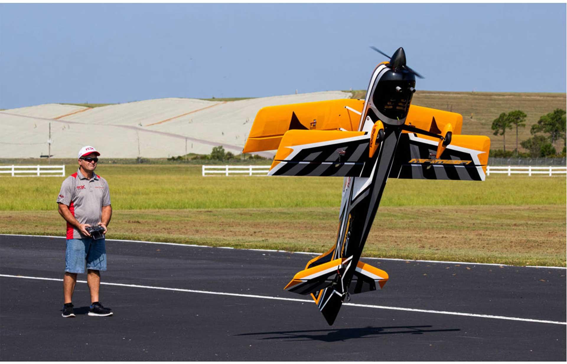 PREMIER AIRCRAFT MAMBA 120CC GELB ARF DOPPELDECKER