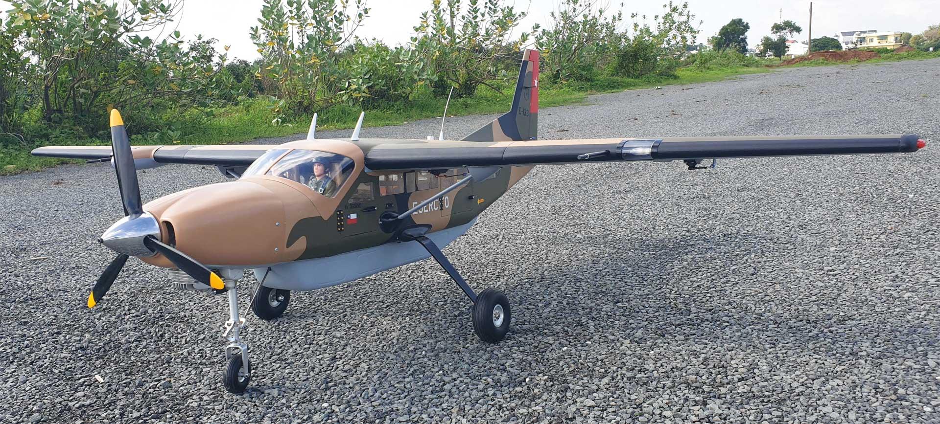 """Seagull Models ( SG-Models ) Cessna 208 Grand Caravan EX 85"""" 45cc """"Militär"""""""