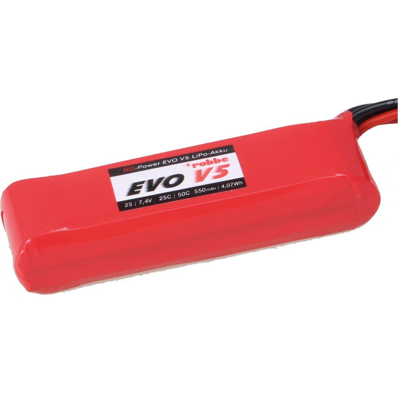 ROBBE RO-POWER EVO V5 25(50)C 7,4 VOLT 2S 550MAH LIPO AKKU