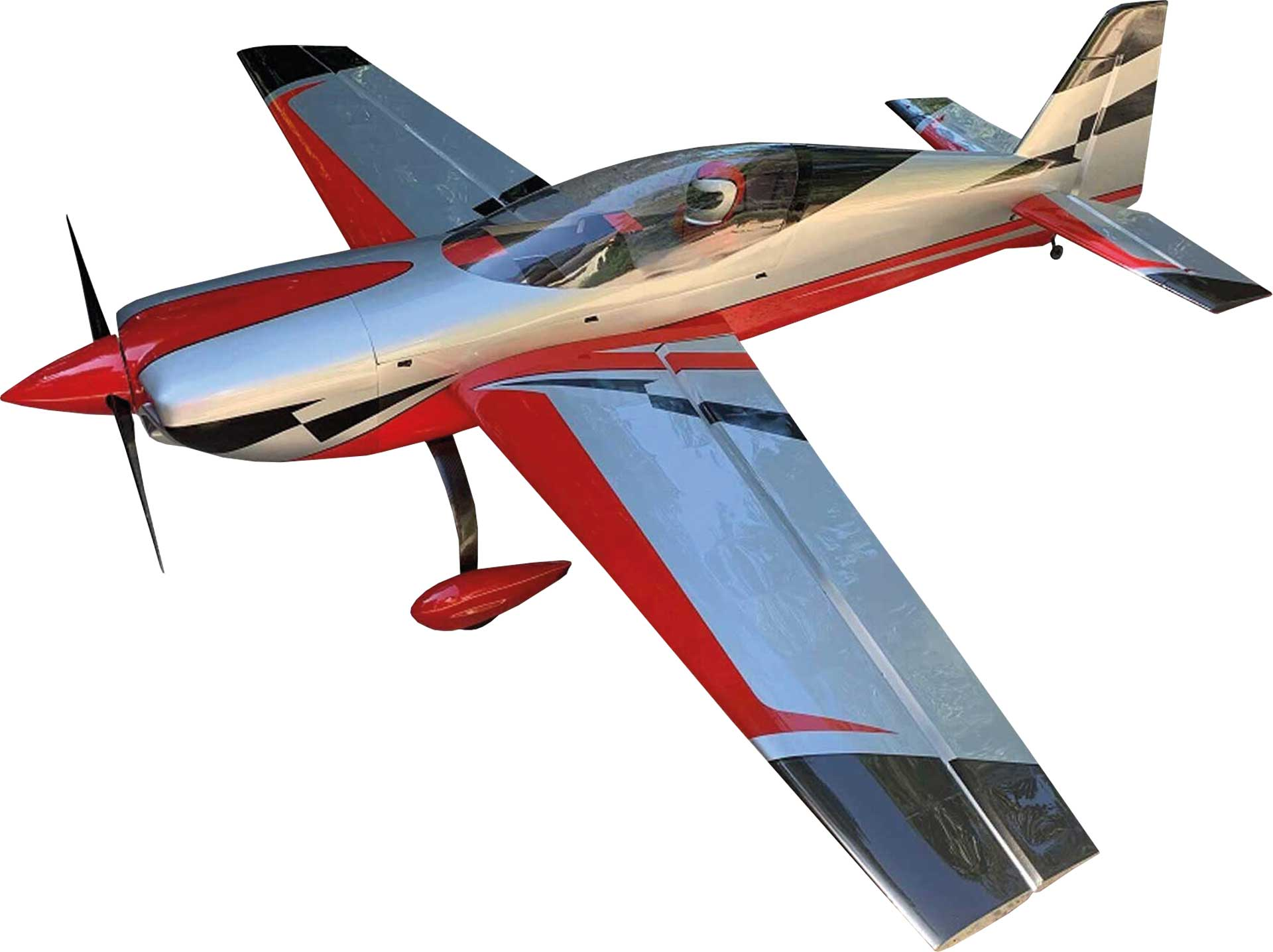 "EXTREMEFLIGHT-RC EXTRA NG 104"" Red/Silver ARF"