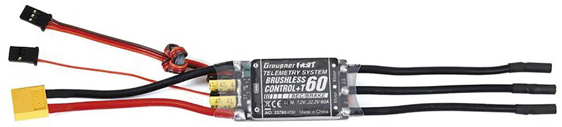 GRAUPNER BRUSHLESS CONTROL+ T 60 BEC G2 XT-60